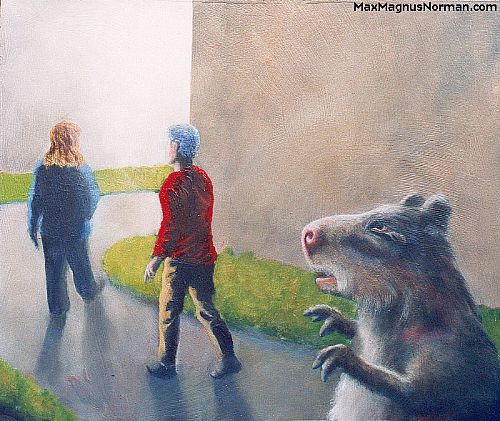 Click to enlarge the picture / the image / the painting WALK TOWARD THE LIGHT SAID THE CAPYBARA
