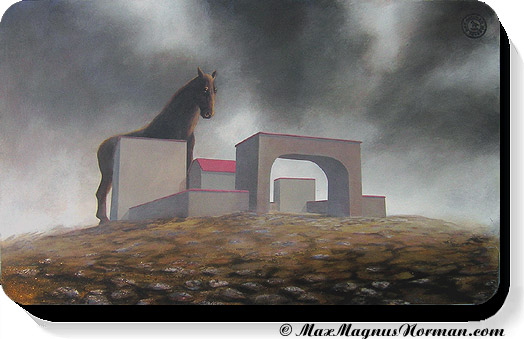 Click to enlarge the picture / the image / the painting DARK HORSE