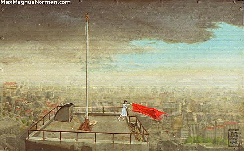 Click to enlarge the picture / the image / the painting FLAG DOWN