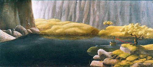 Click to enlarge the picture / the image / the painting THE GREEN SUBMARINE