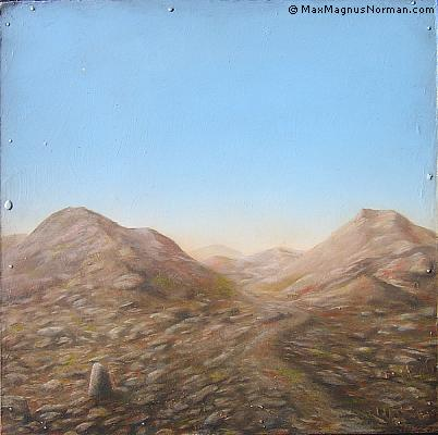 Click to enlarge the picture / the image / the painting THE RHYTHM OF LIFE IN A DESOLATE LANDSCAPE
