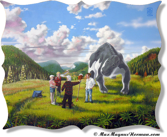 Click to enlarge the picture / the image / the painting Scandinavian Megafauna