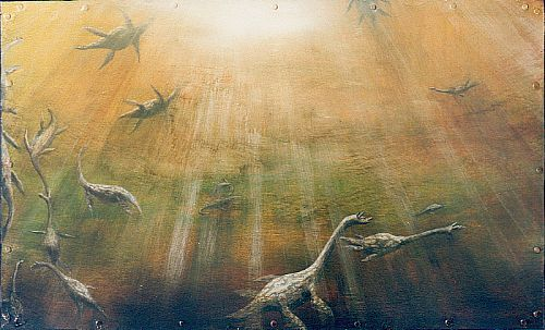 Click to enlarge the picture / the image / the painting THE DIAPHANOUS DREAMS OF THE AQUATIC ANIMALS the picture / the image / the painting SUNDANCERS