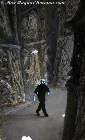 Click to enlarge the picture / the image / the painting CONFERENCE the picture / the image / the painting The Blue Man, Always on Easy Street