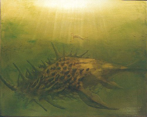 Click to enlarge the picture / the image / the painting THE DIAPHANOUS DREAMS OF THE AQUATIC ANIMALS