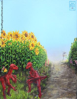 Click to enlarge the picture / the image / the painting THE YELLOW ROAD