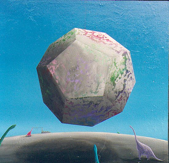 the picture / the image / the painting THE LOWERING OF THE DODECAHEDRON